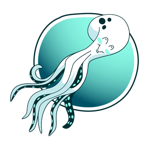 Stylish octopus illustration Transparent PNG
