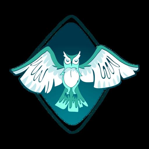 Stylish owl illustration Transparent PNG