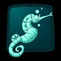 Ilustración de caballito de mar con estilo