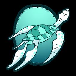 Tartaruga nadando com estilo