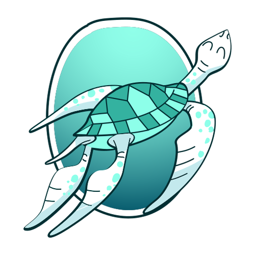 Swimming turtle stylish Transparent PNG