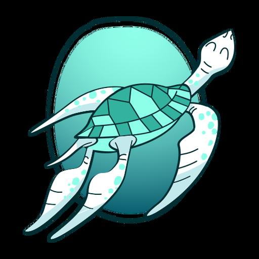 Tortuga nadando con estilo