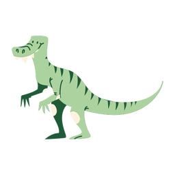 T rex dinosaur cartoon standing