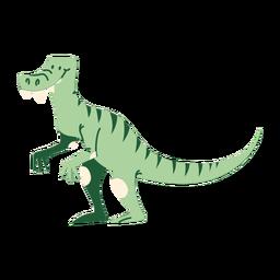 T rex dinosaurio de dibujos animados de pie