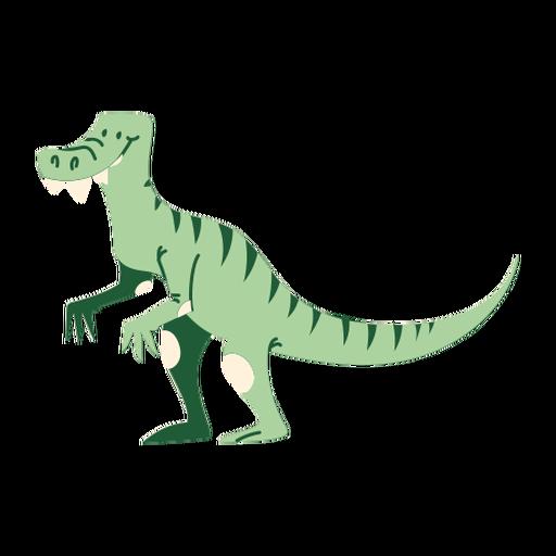 T rex dinosaurio de dibujos animados de pie Transparent PNG