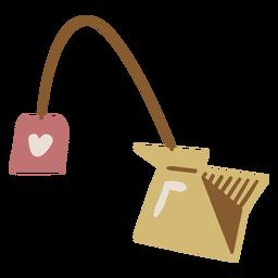 Bebida acogedora de bolsita de té
