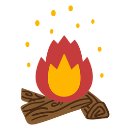 Chimenea de fuego caliente