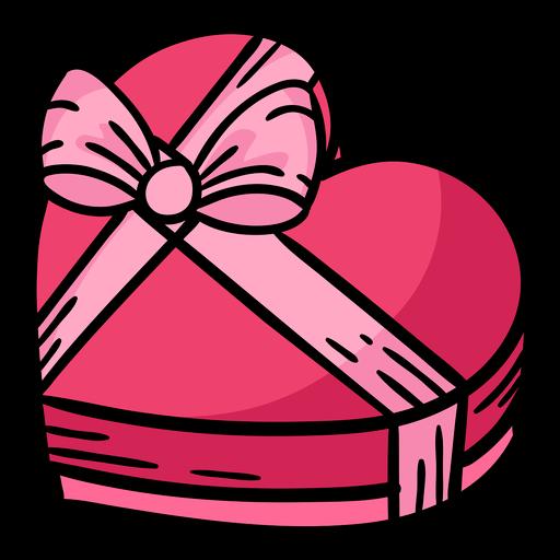caja de chocolate corazón con cinta de color Transparent PNG