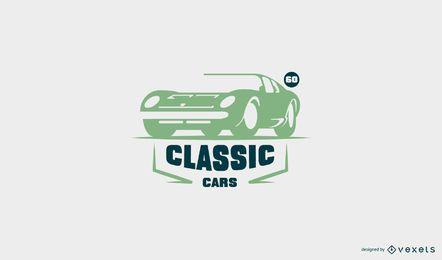 Plantilla de logotipo de coche de época