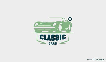 Vintage car logo template