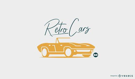 Retro car logo template