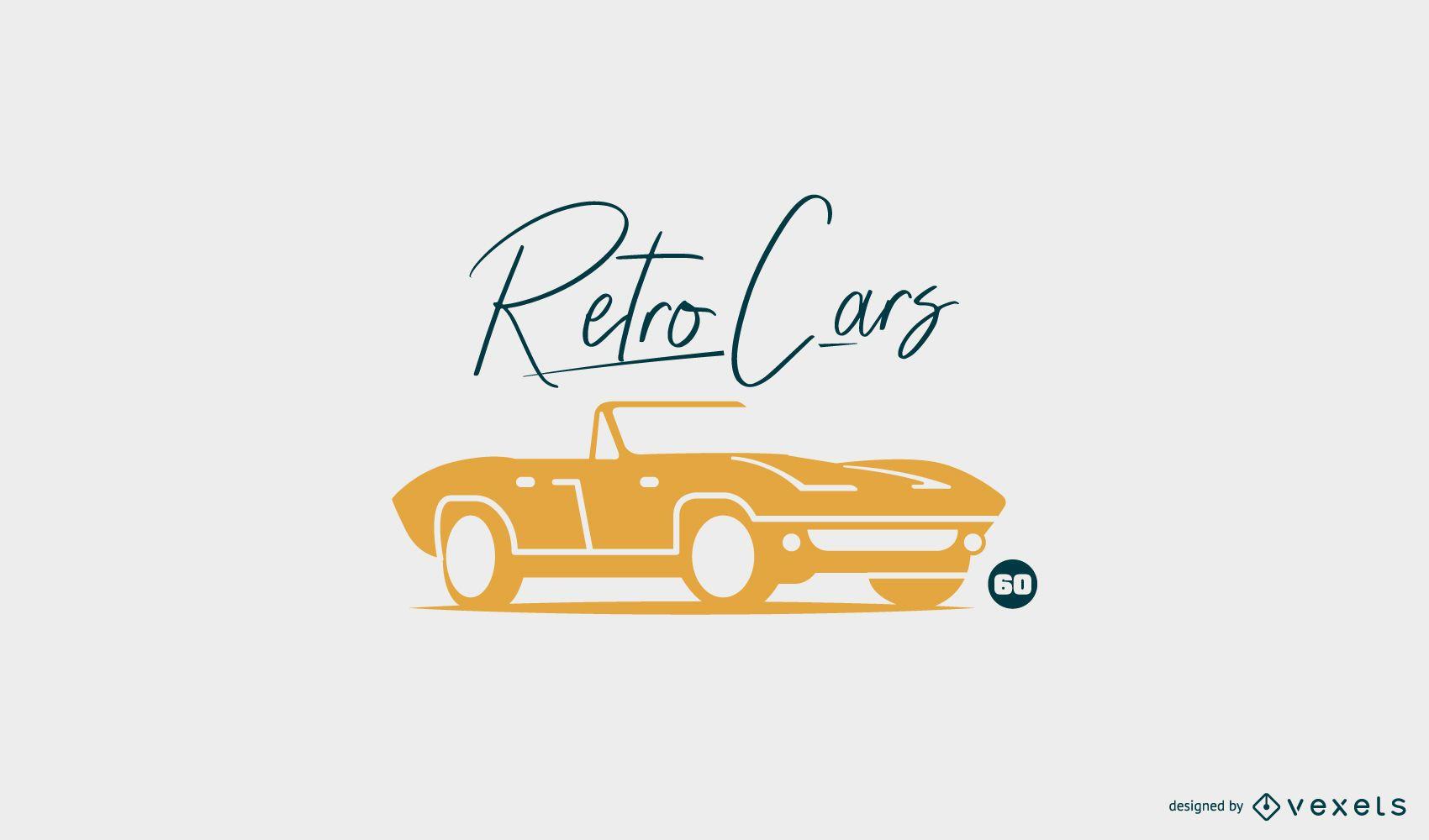Retro car logo template