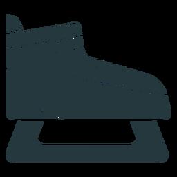 sapato de patinagem no gelo de cor escura