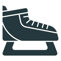 zapato de patinaje sobre hielo de color oscuro