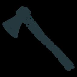 wooden axe dark-colored