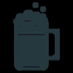 jarra de cerveza de color oscuro