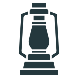 linterna de lámpara de color oscuro simple