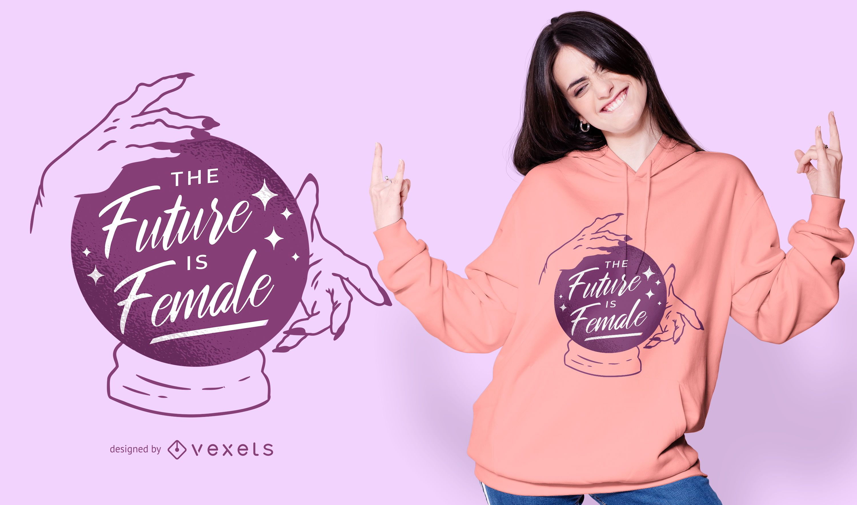 Future is female t-shirt design