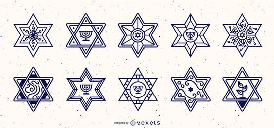 Star of David Stroke Design Collection