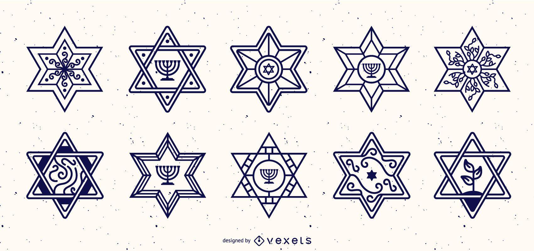 Star of David Stroke Design Collection