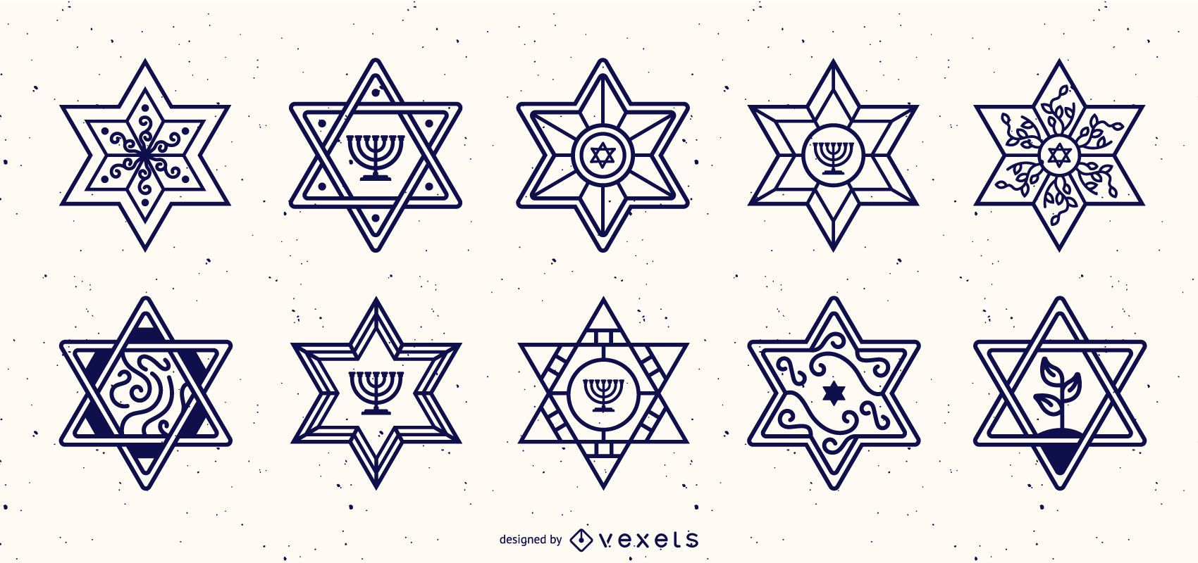 Star of David Stroke Design Kollektion