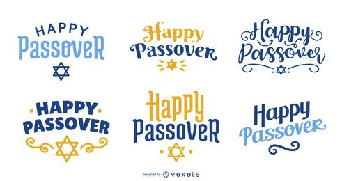 Happy Passover Lettering Pack