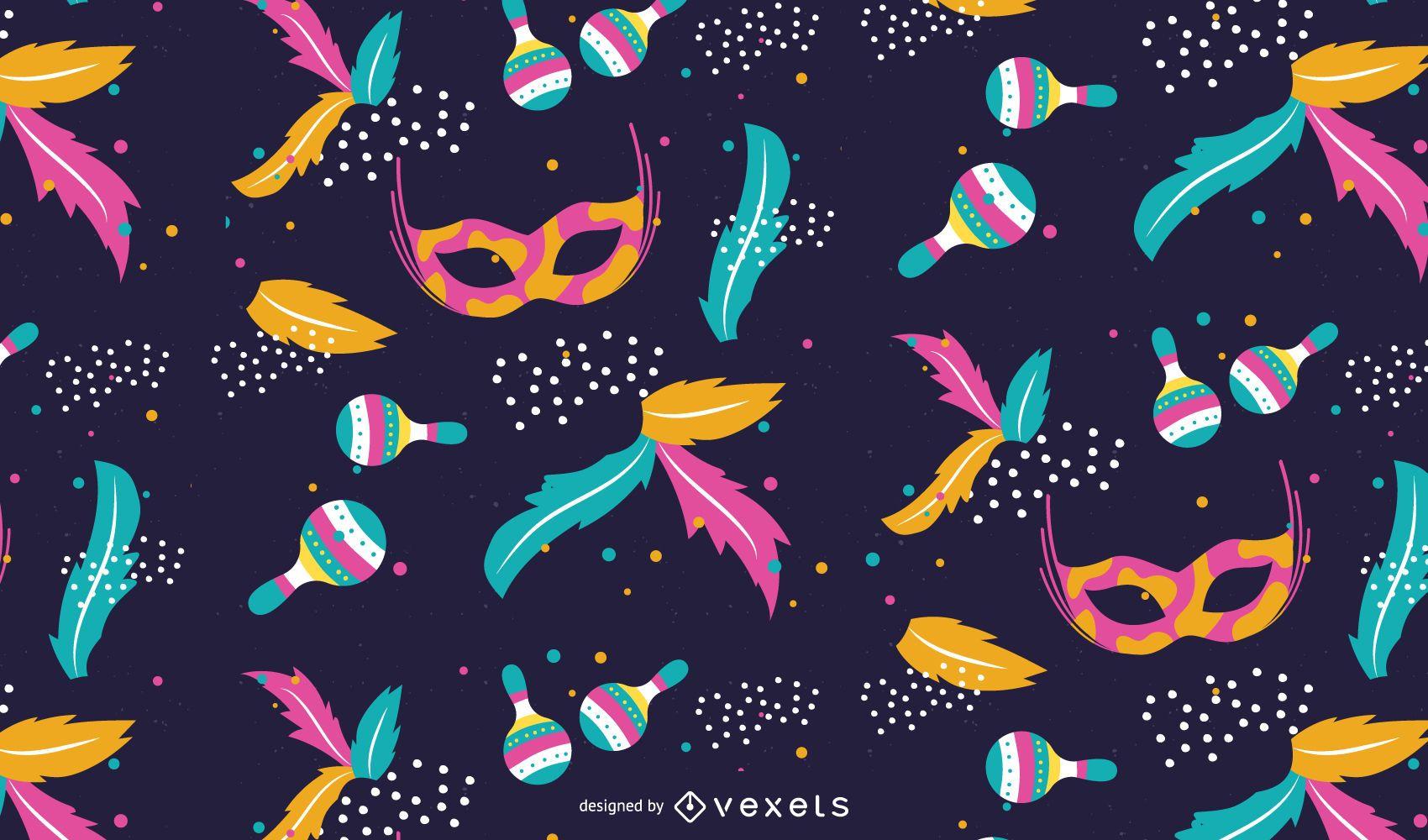 Diseño de patrón de colores de carnaval