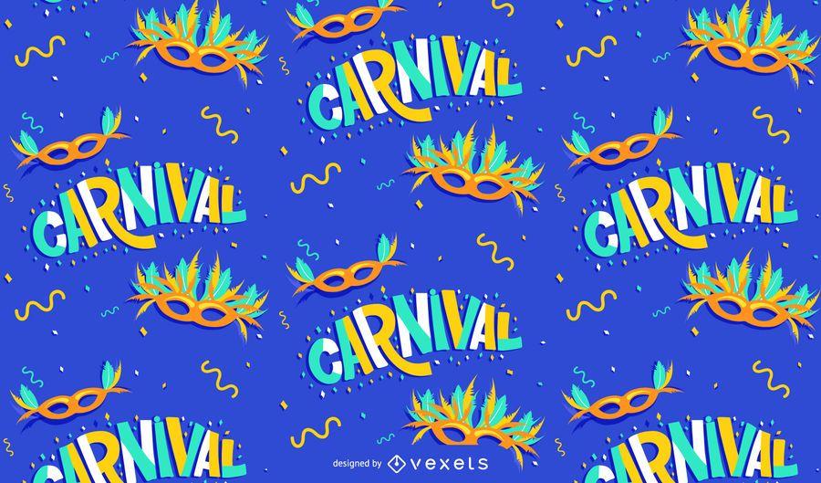 Diseño de patrón de máscaras de carnaval