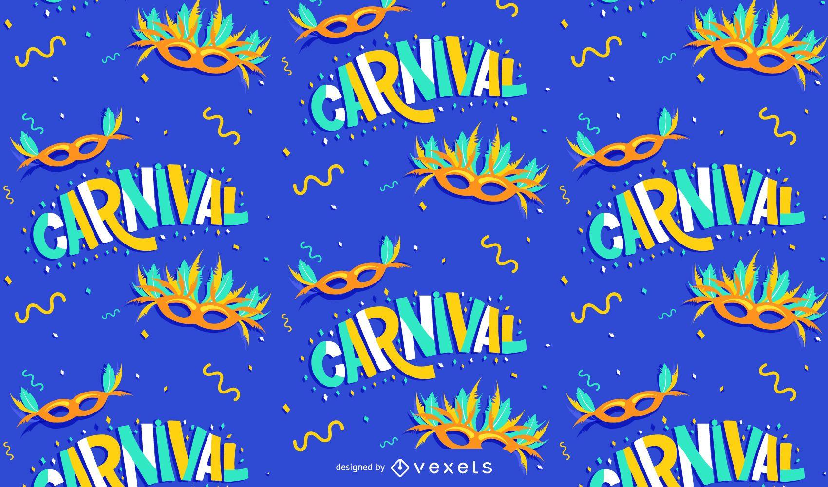 Carnival masks pattern design