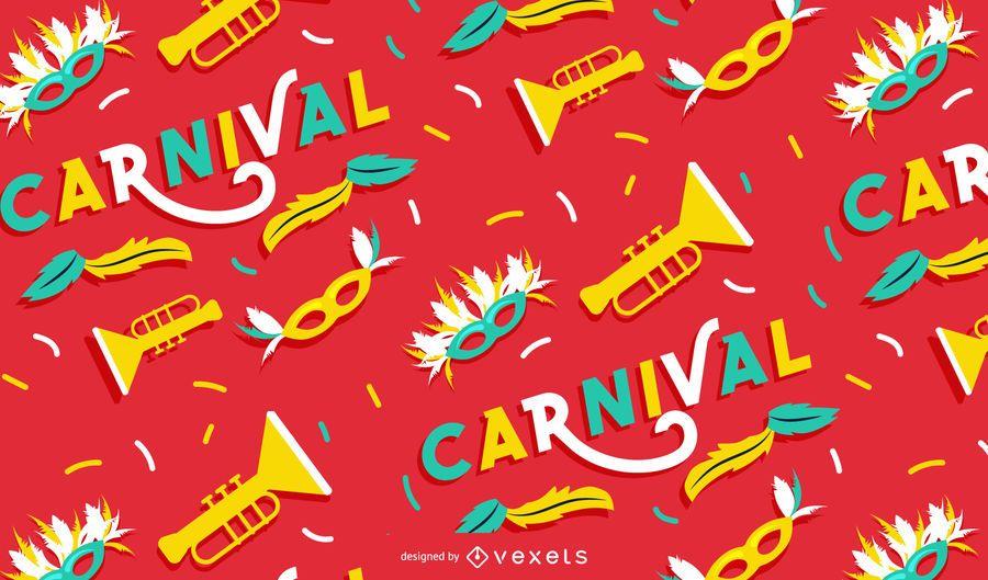 Diseño de patrón de fiesta de carnaval