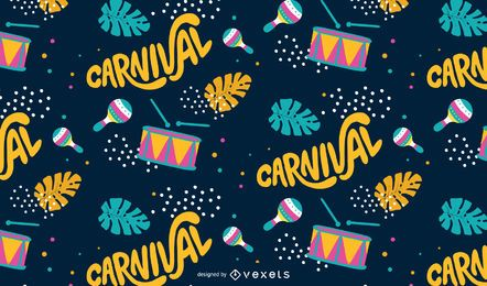 Carnival music pattern design
