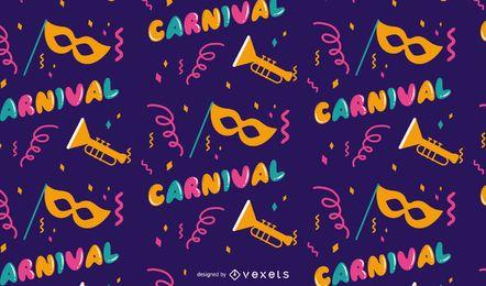 Desenho de padrão de carnaval Mardi Gras