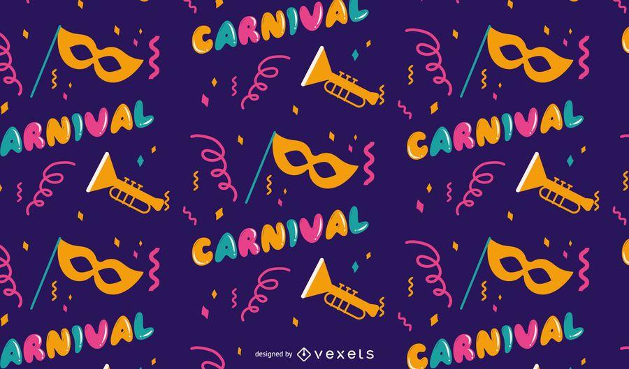 Design de padrão de carnaval de carnaval