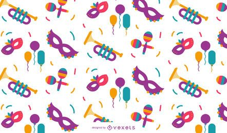 Mardi gras party pattern design