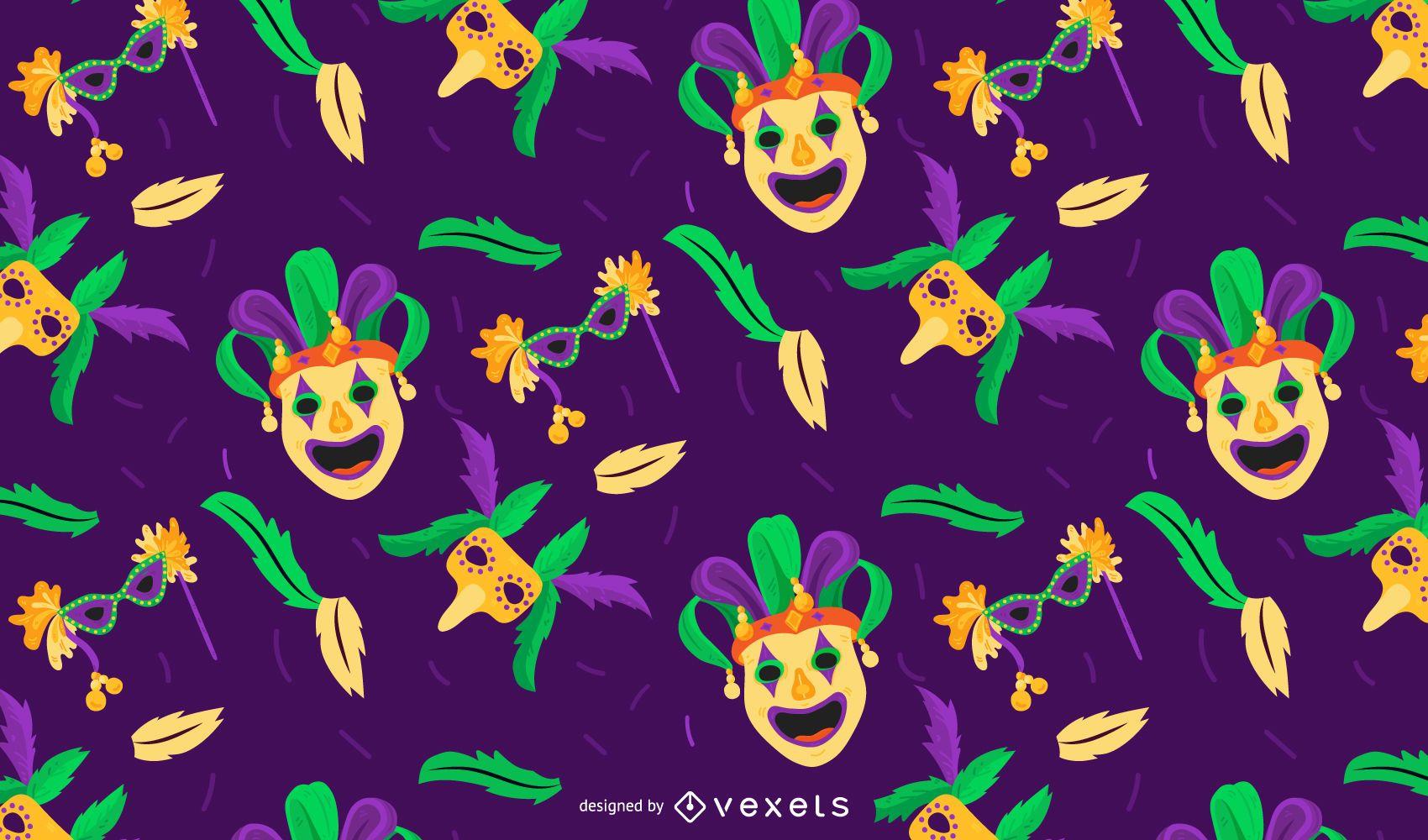 Desenho de padrão de carnaval