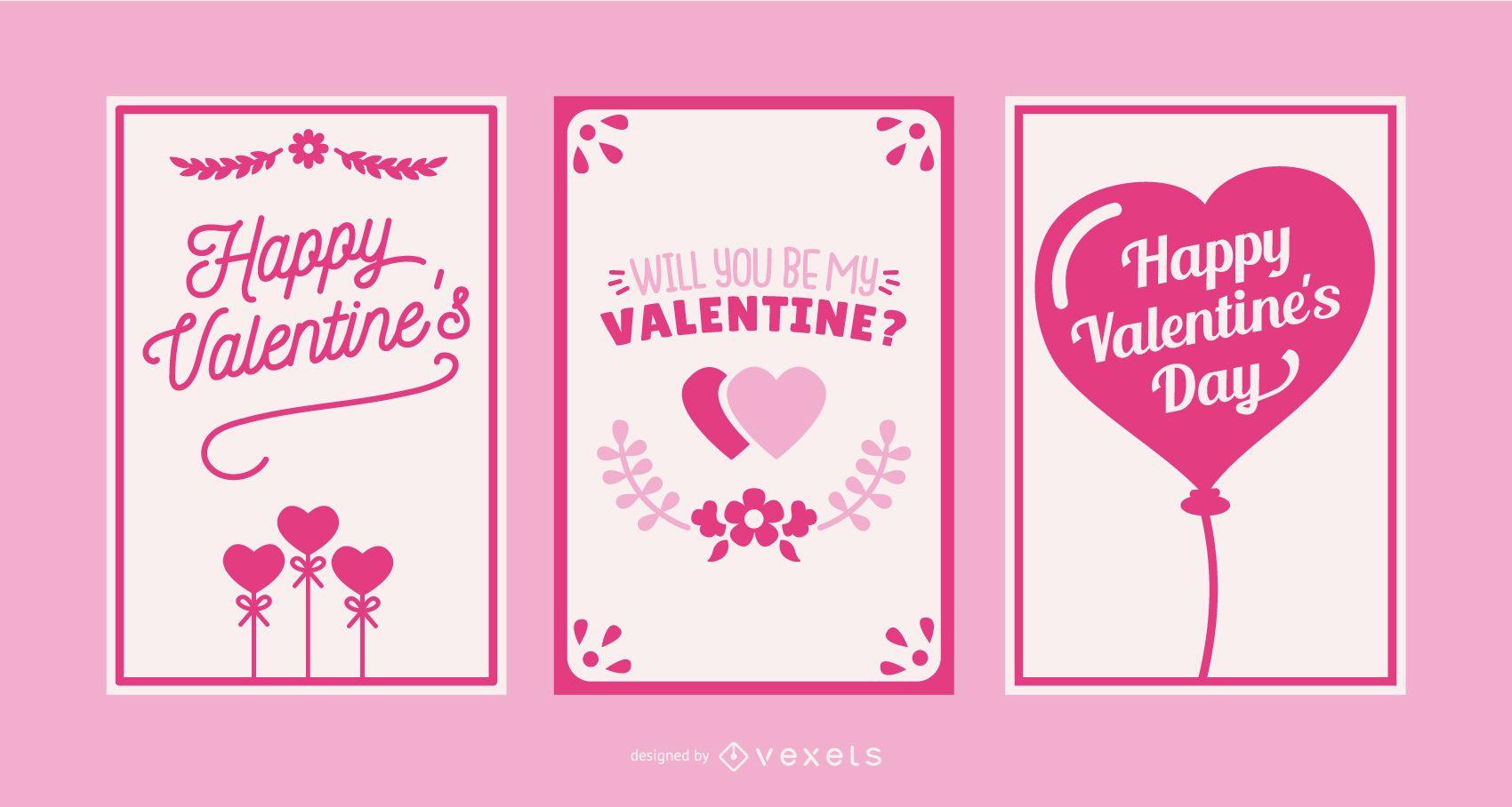 Valentine's day card set