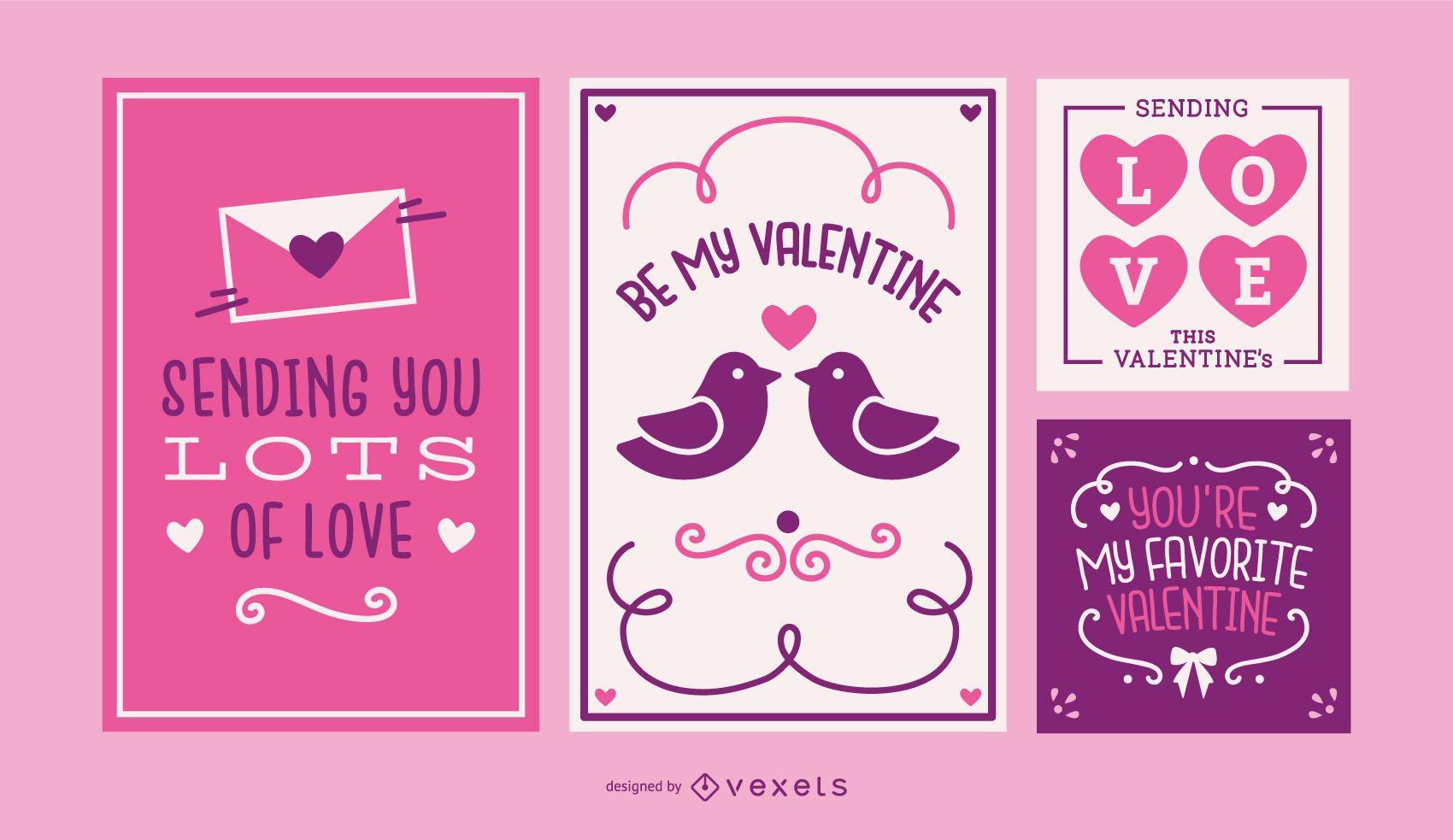 Set de tarjetas de San Valent?n