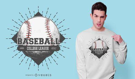 Design de t-shirt da liga de faculdade de beisebol