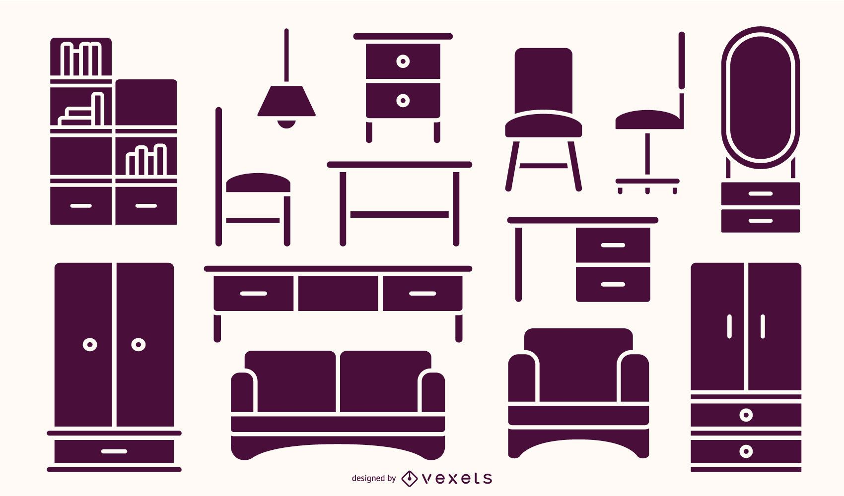 Flat Furniture Silhouette Pack