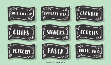 Pantry Food Label Pack