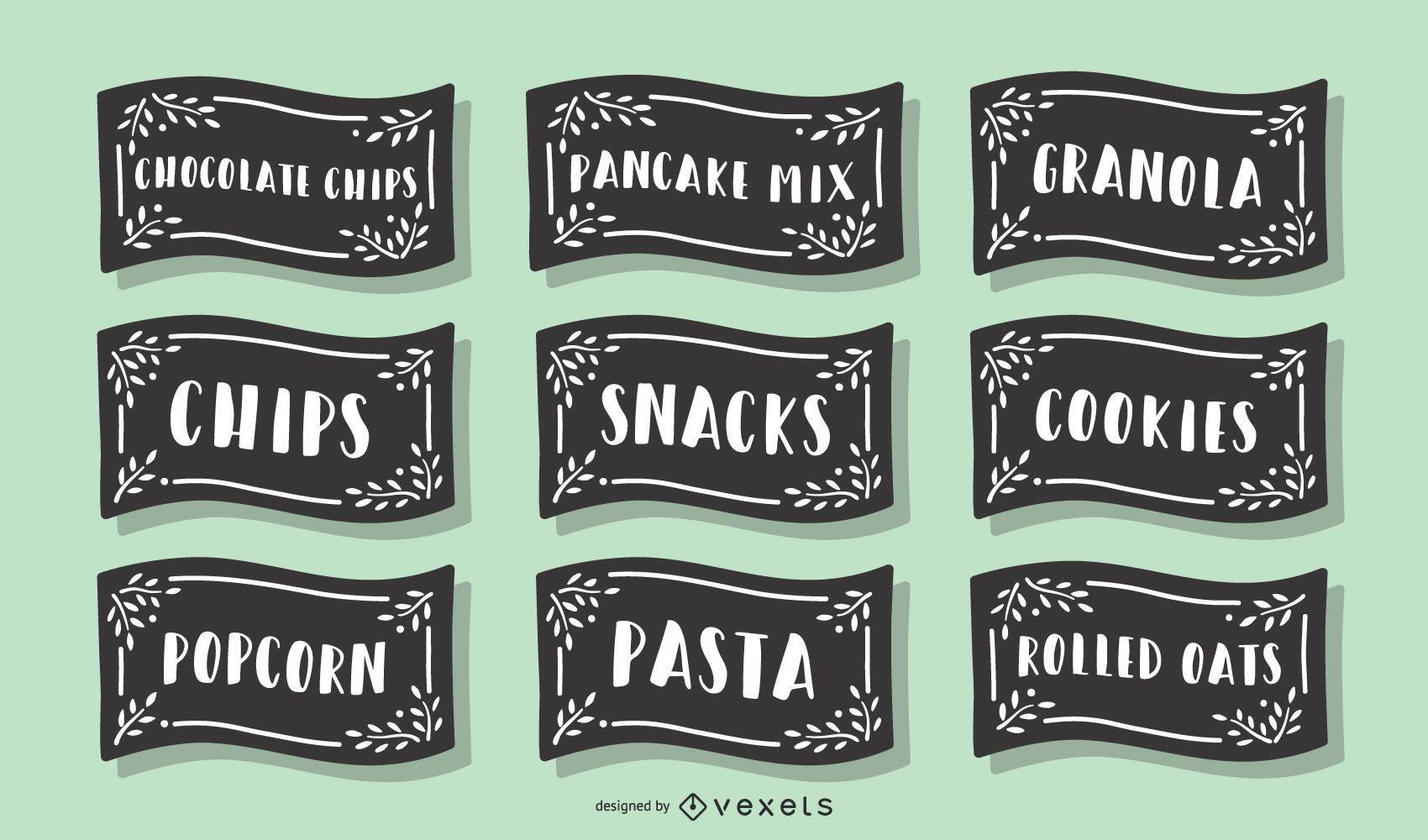 Pantry Food Label Pack