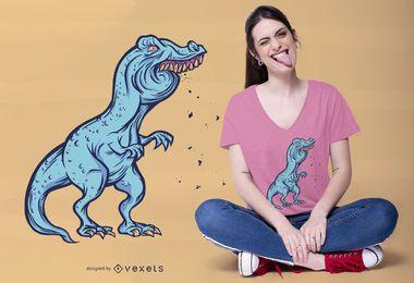 Diseño de camiseta divertida F T-rex