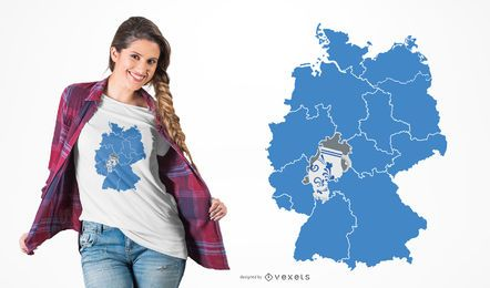 Design de t-shirt de cerâmica de Hessen