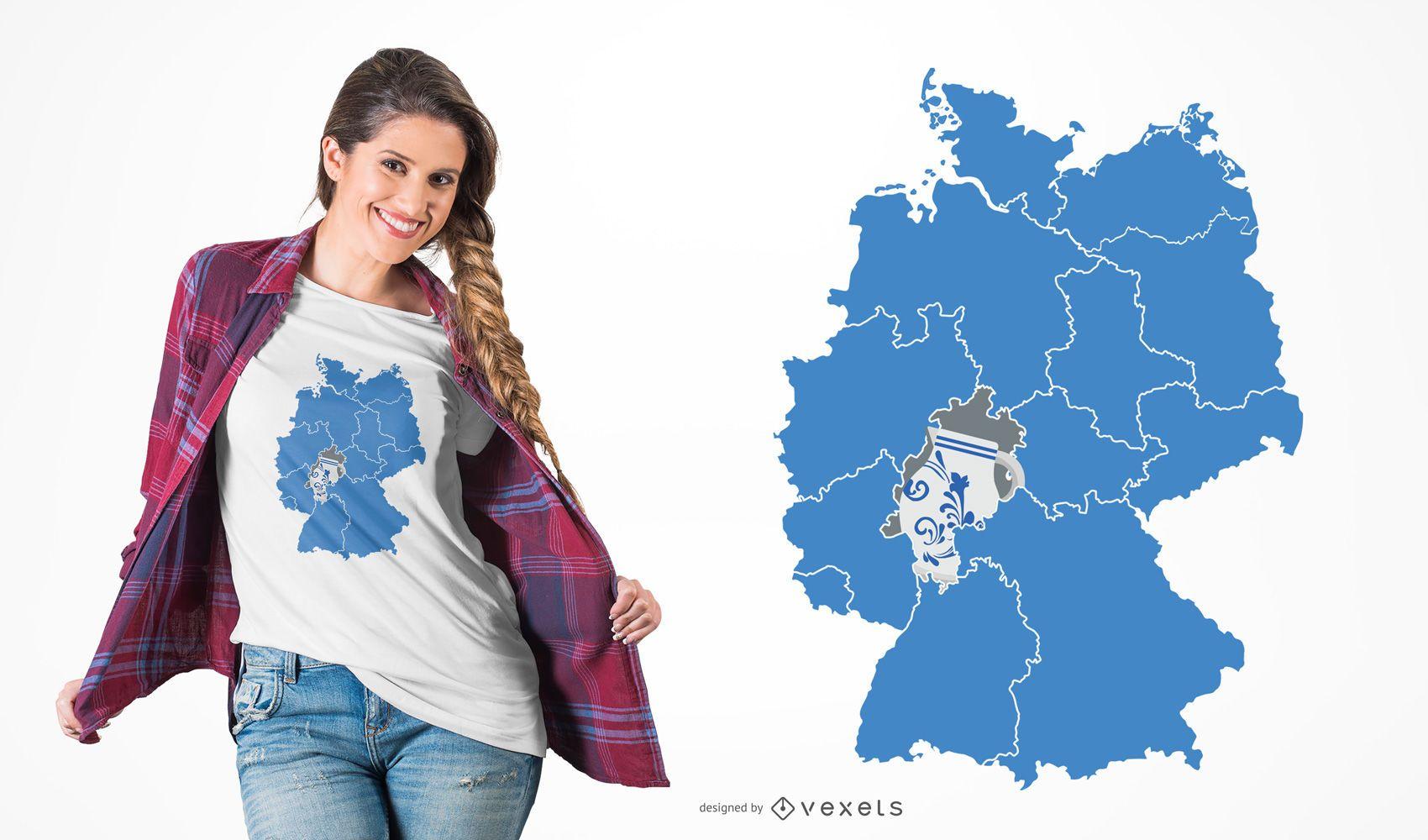 Design de camisetas da cerâmica Hessen