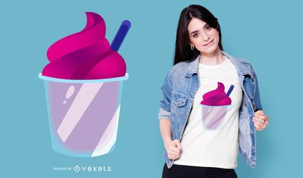 Purple Ice Cream T-shirt Design