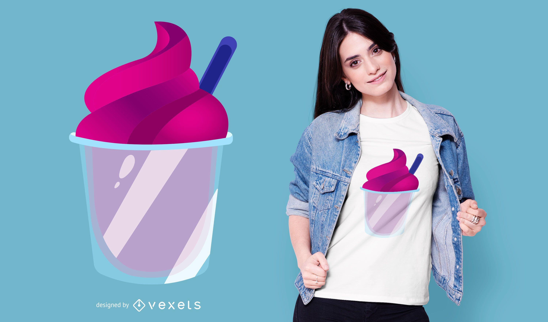 Design roxo de camiseta de sorvete