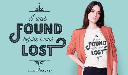 Encontrado lettering design de t-shirt