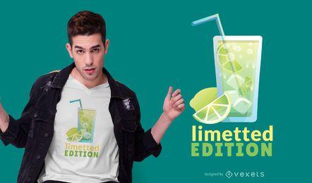 Limette Getränk Zitat T-Shirt Design