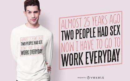 25o design do t-shirt do aniversário