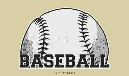 Diseño de etiqueta de pelota de béisbol